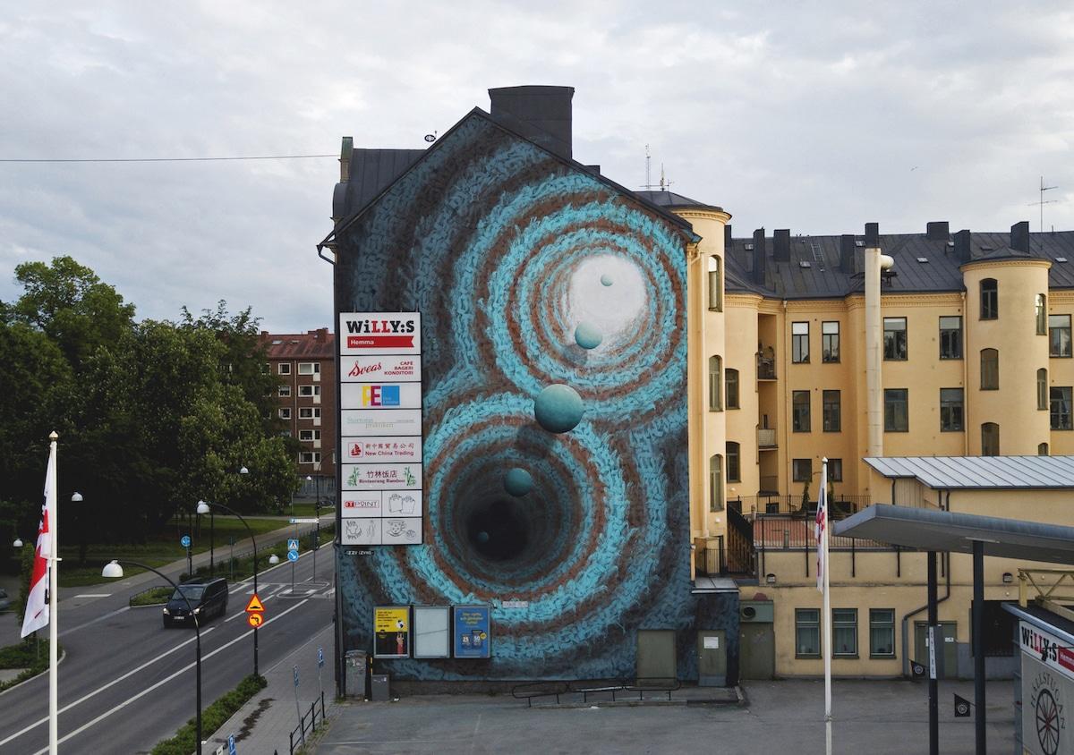 Arte urbano tridimensional de Izzy Izvne
