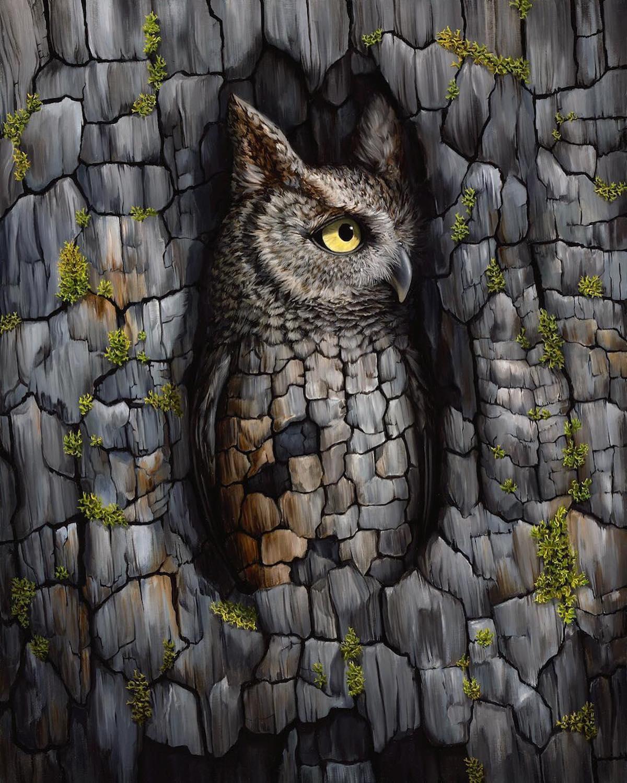 Surreal Bird Art by Jon Ching