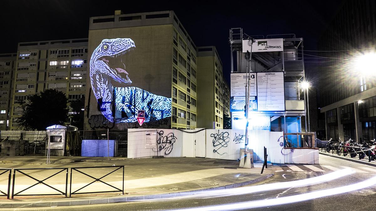 Julien Nonnon Prehistoric Safari Street Art