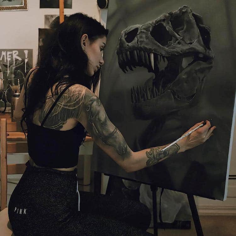 Katharina Barth Dinosaur Paintings