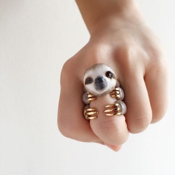 Adjustable Sloth Ring