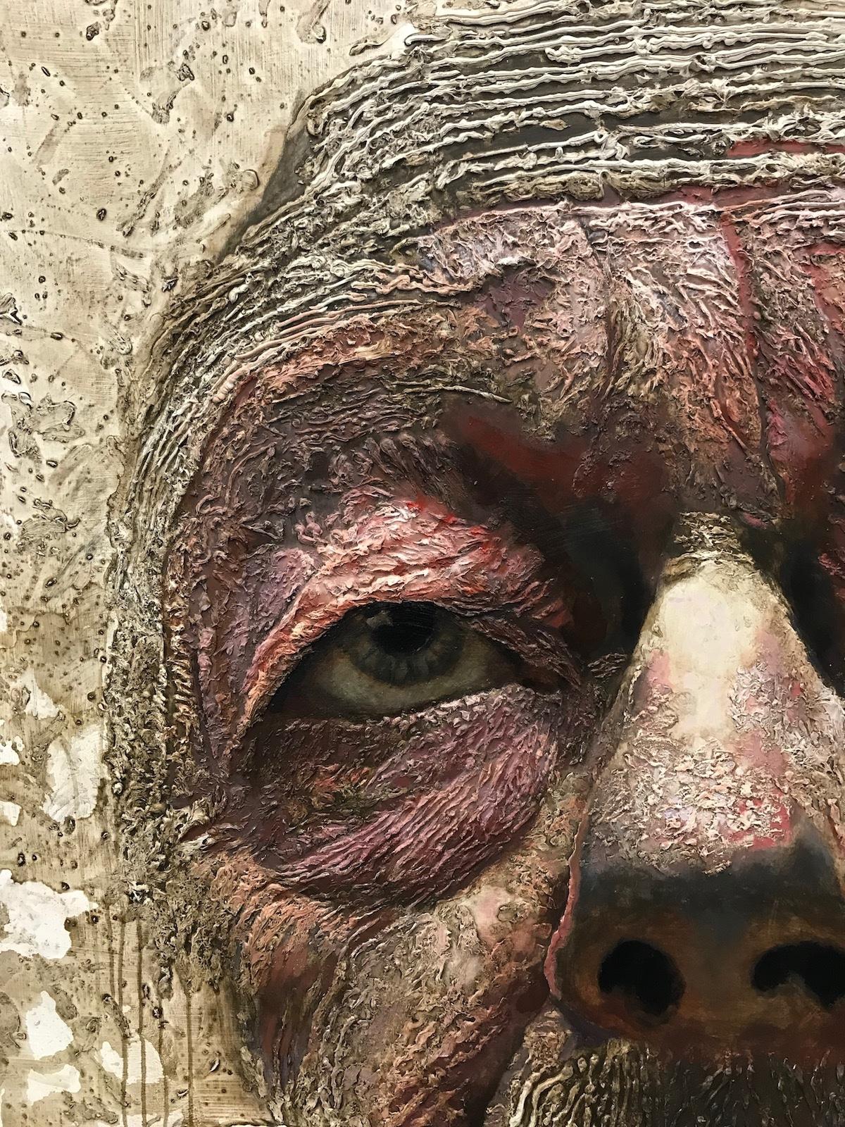 Michael Goodson Large Format Portrait Paintings Detail