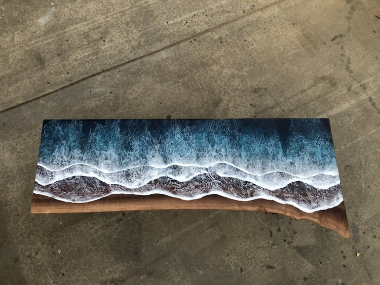 Live Edge Resin Table