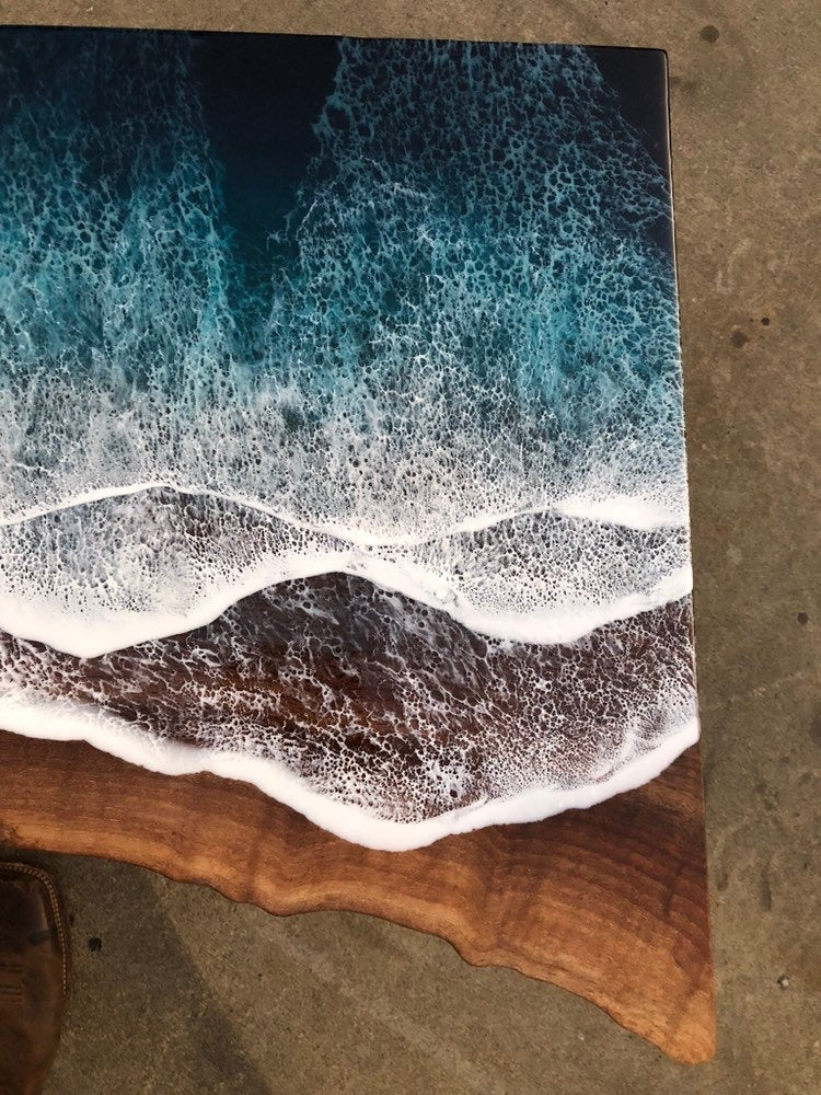 Wood and Resin Table
