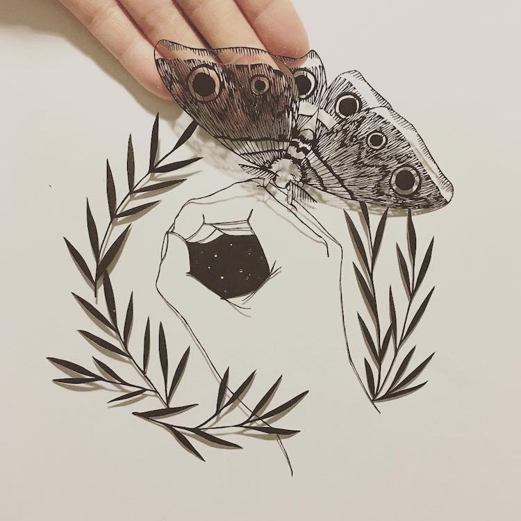 Искусство вырезания из бумаги Канако Абэ