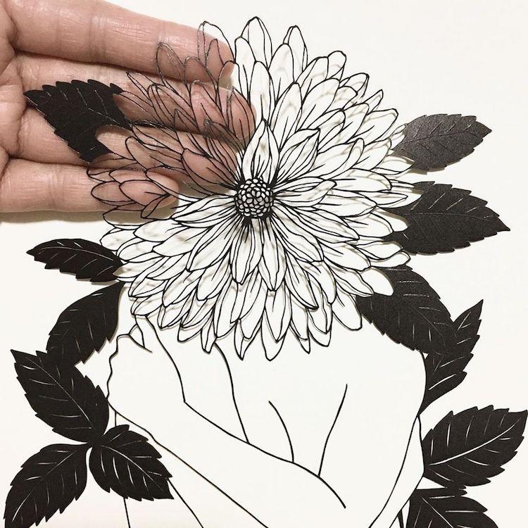 Paper Cutting Art by Kanako Abe