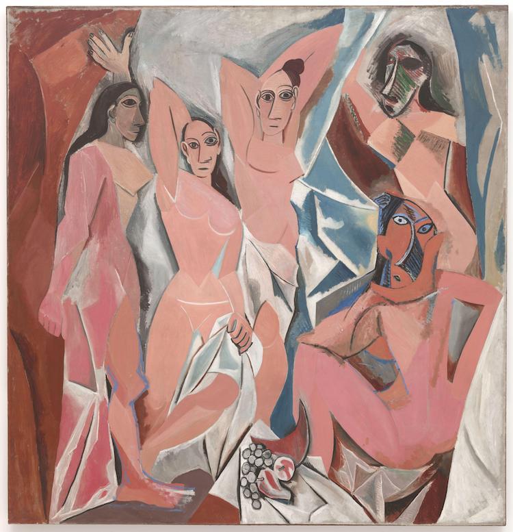 Picasso Painting Les Demoiselles D'Avignon