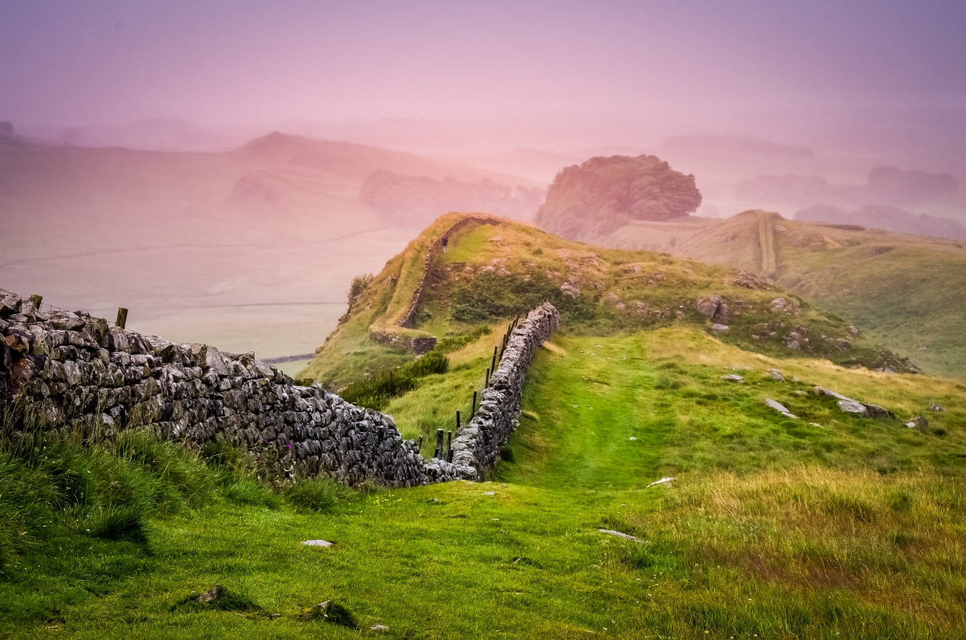 Hadrians Wall in England