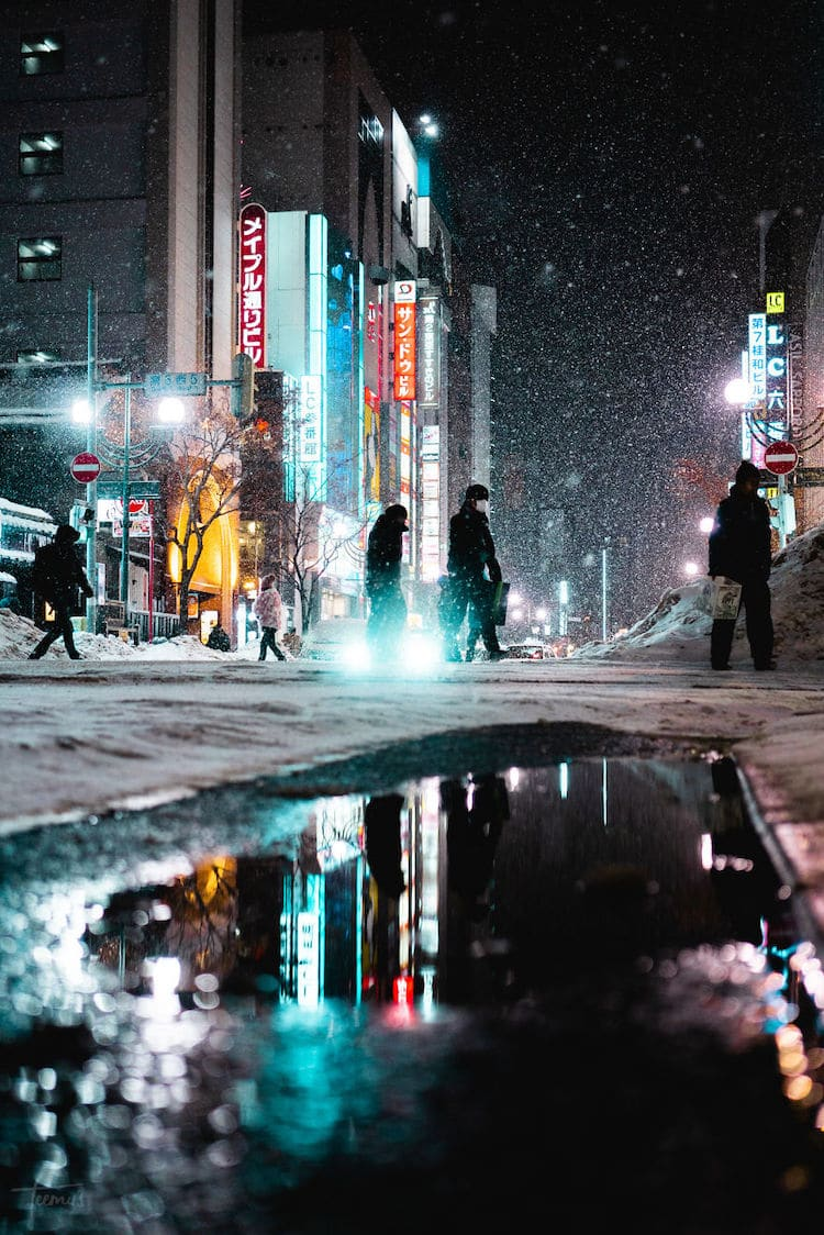 Winter in Sapporo by Teemu Jarvinen
