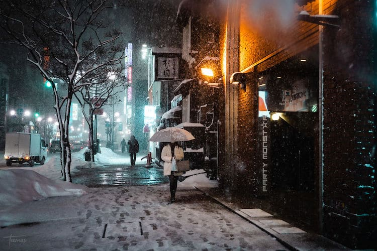 Sapporo Covered in Snow