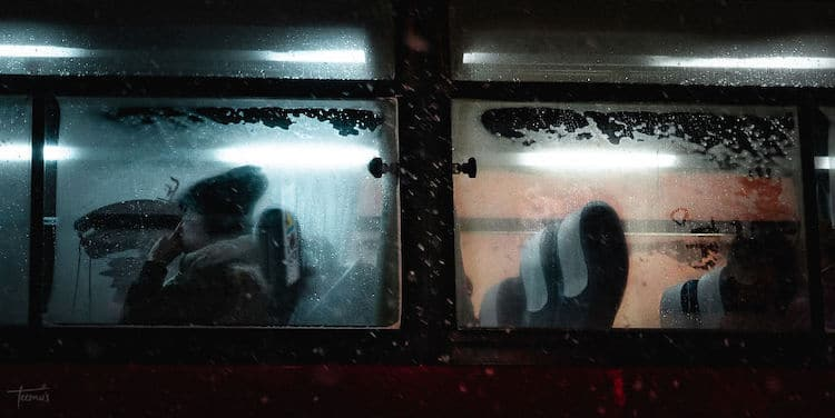 Foggy Bus Window