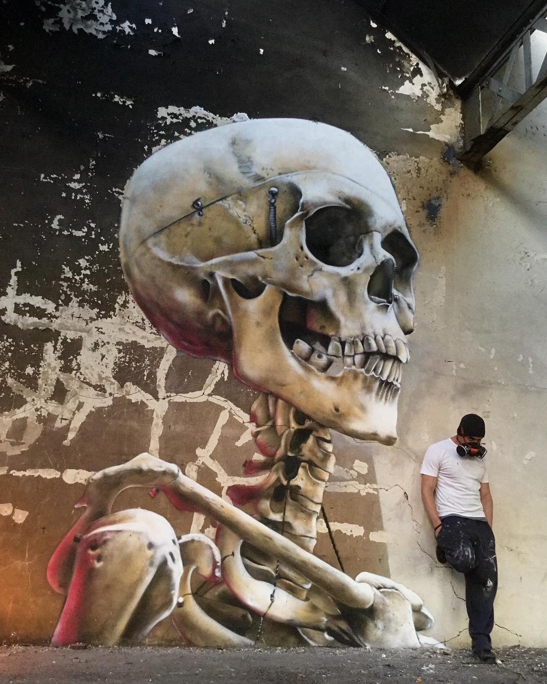 3D Graffiti Skeleton