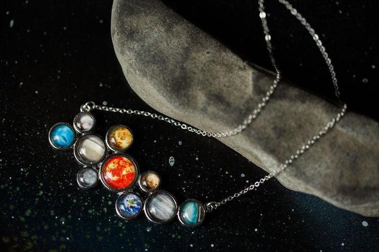 Solar System Bib Necklace by Yugen Tribe