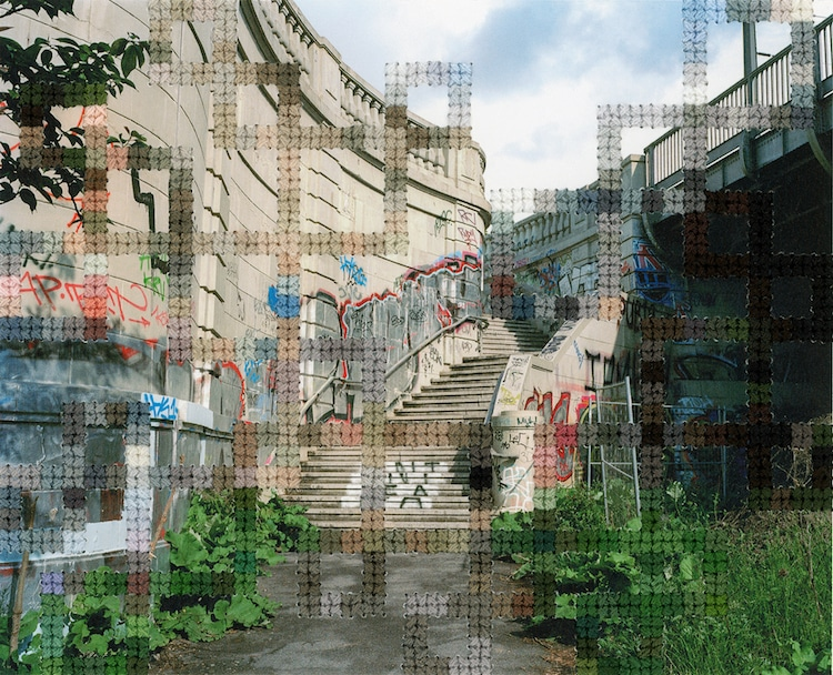 Stitched Photographs Berlin Wall by Diane Meyer