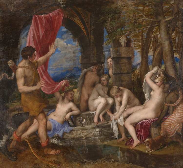 Titian Painting of Diana and Actaeon