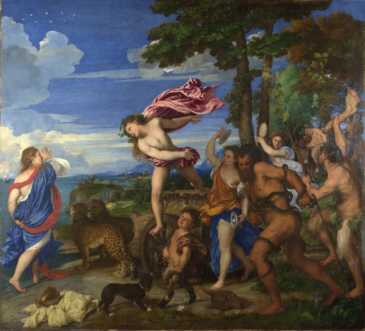 Titian Painting of Bacchus and Ariadne