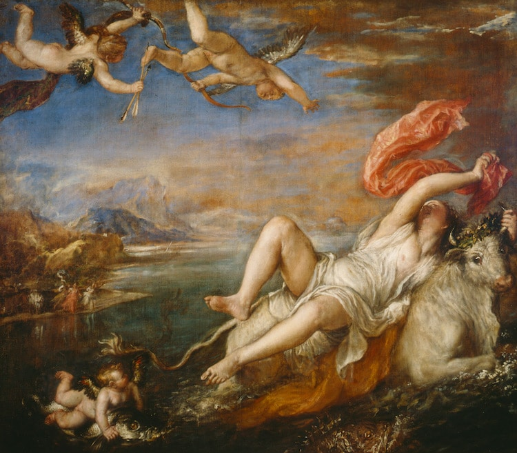 Titian Painting Rape of Europa