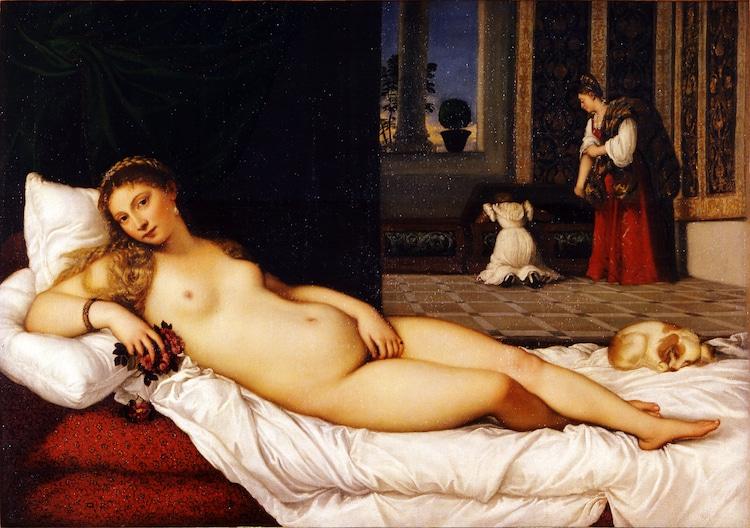 Titian Painting Venus of Urbino