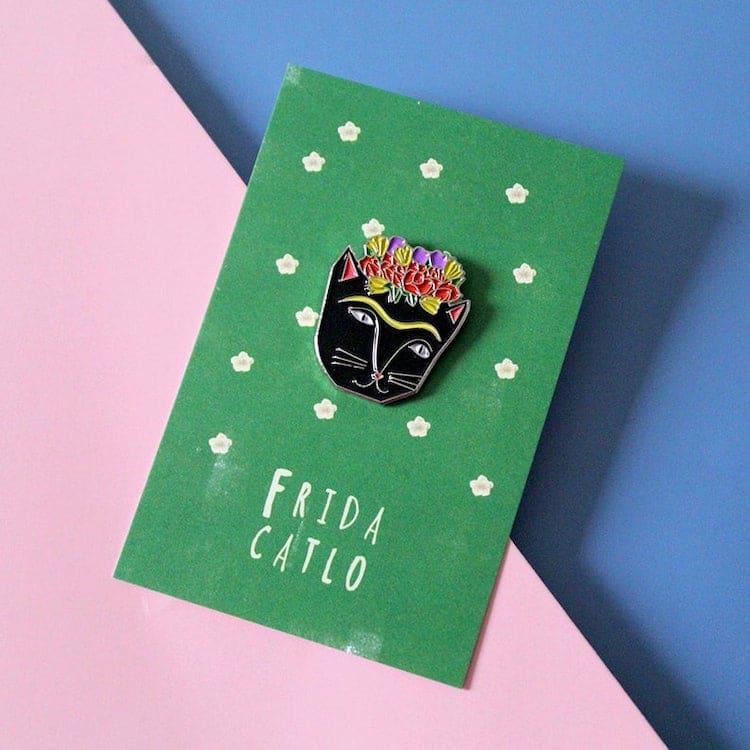 Frida Catlo Enamel Pin