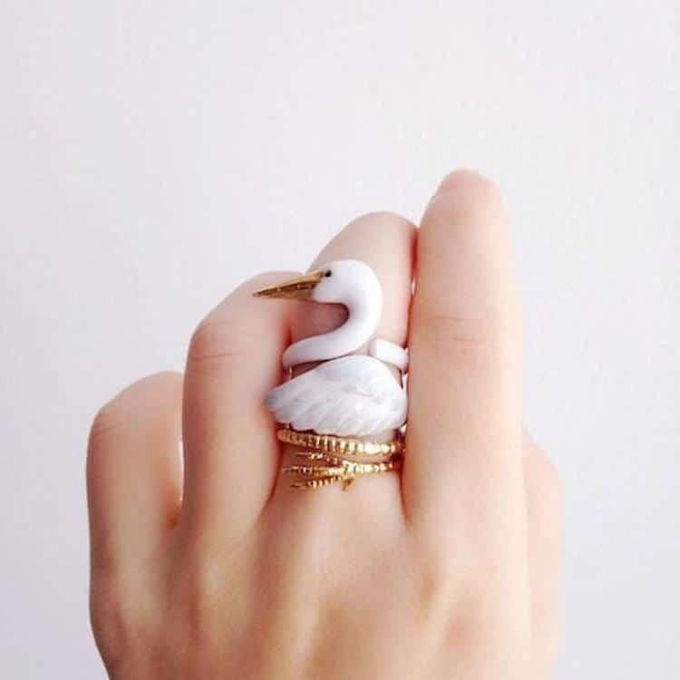 Crane Animal Ring