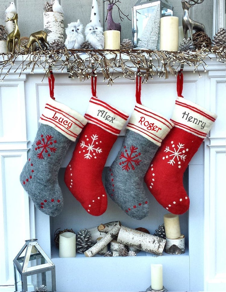 Botas navideñas personalizadas