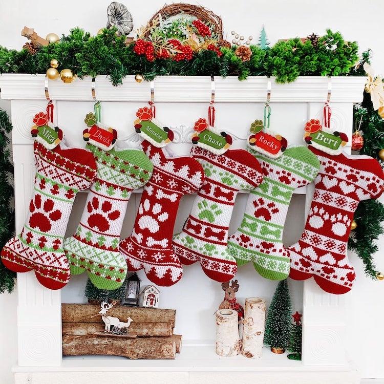 Botas navideñas para mascotas en Etsy