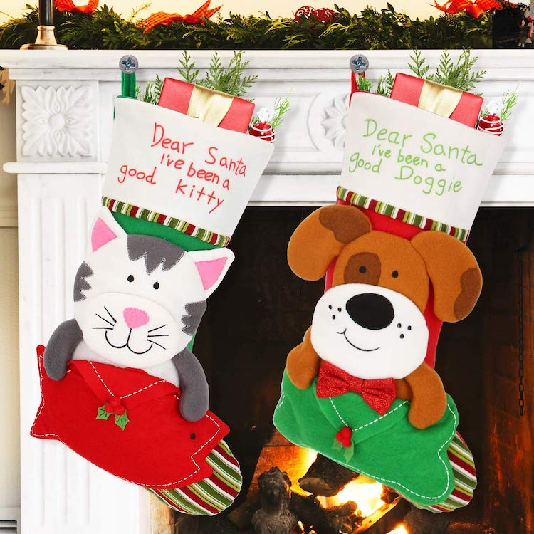 Dog and Cat Christmas Stockings