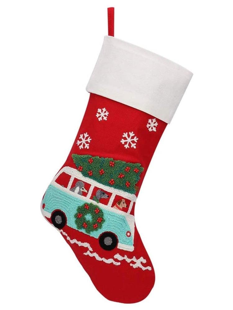 Botas navideñas retro