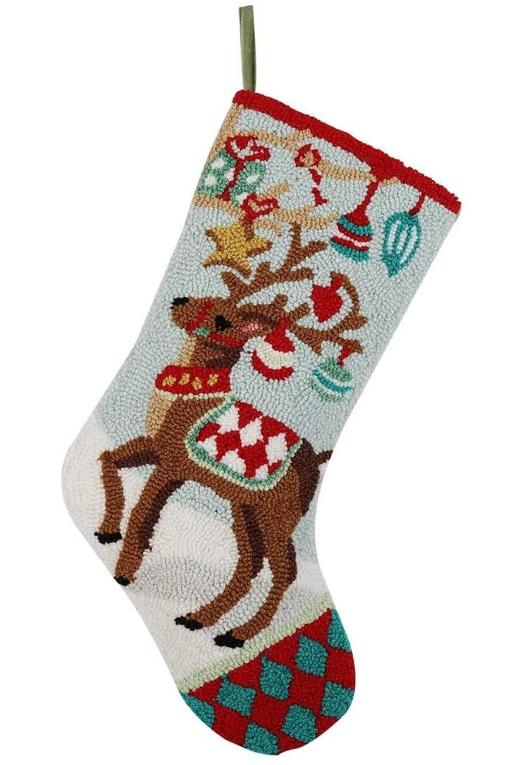 Handmade Hooked Christmas Stocking