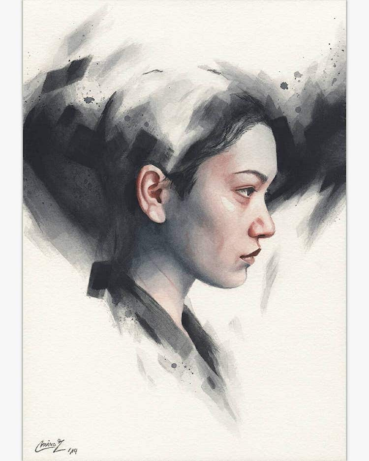 Watercolor Paintings by Miroslav Zgabaj