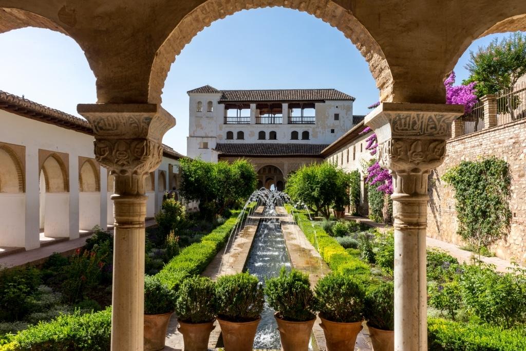 Patio del Generalife en la Alhambra