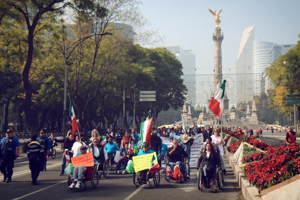 Manifestación en el Ángel de la Independencia