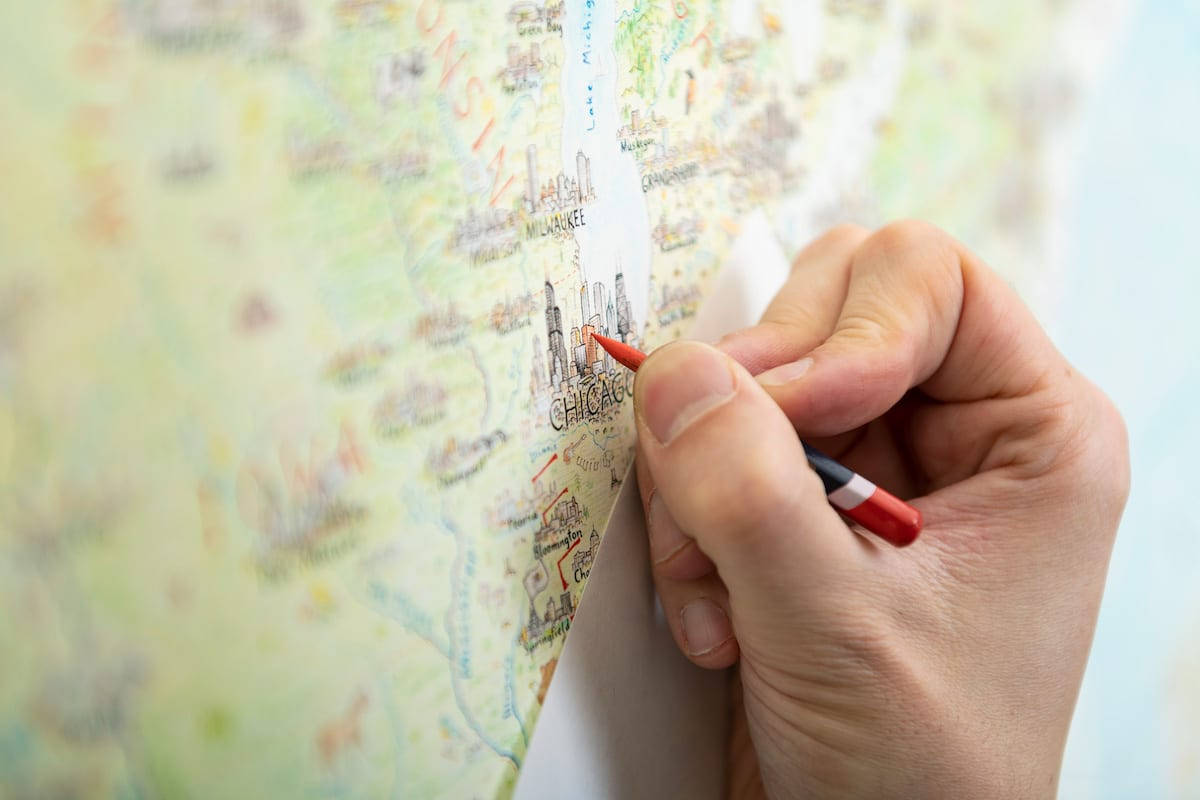 dibujar mapa a mano