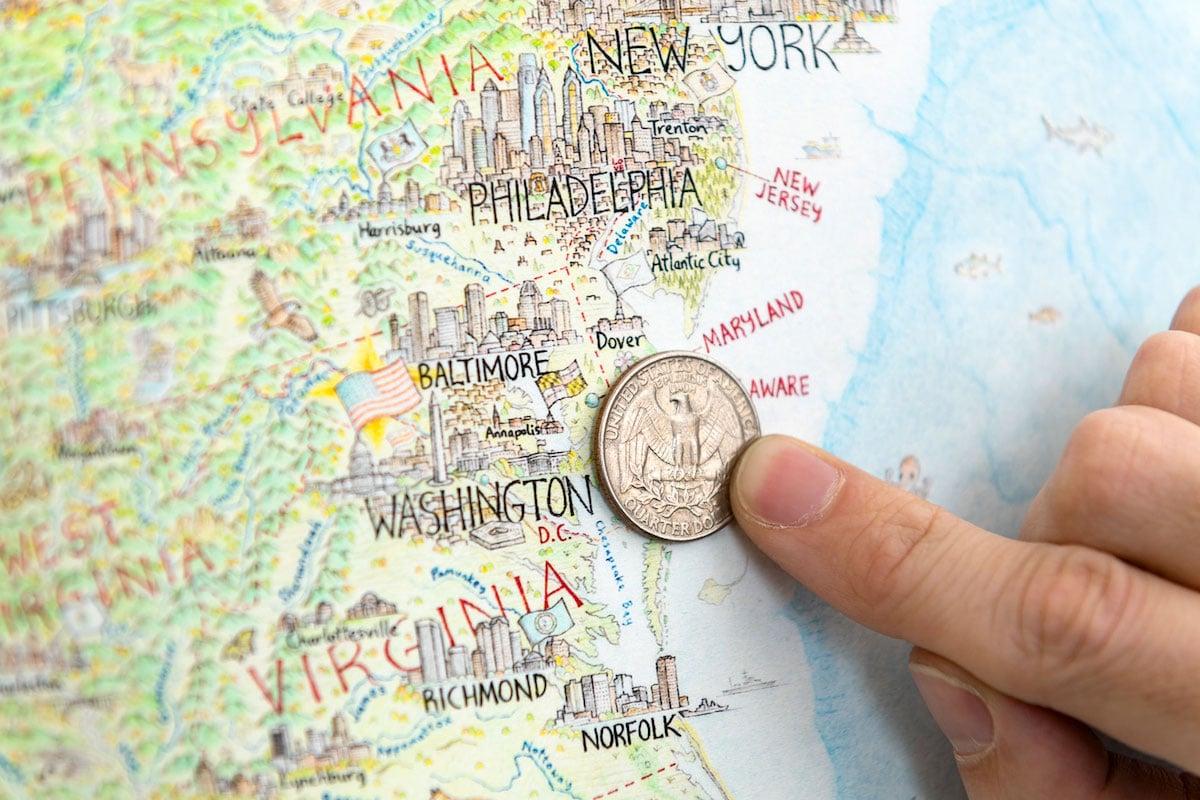 dibujo de mapa de america del norte