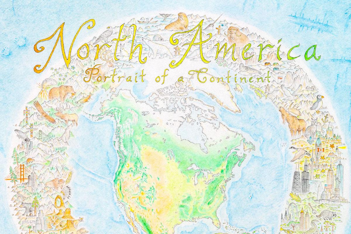 dibujo de mapa de america de norte