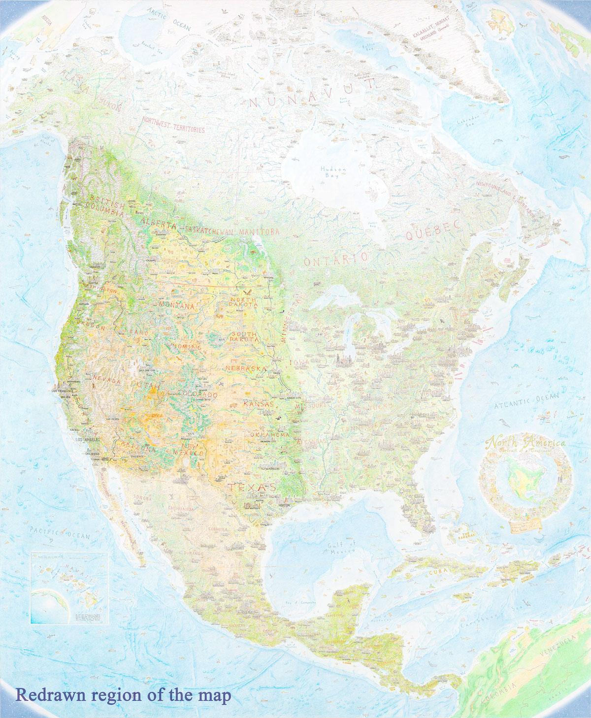 Anton Thomas Mapa dibujado