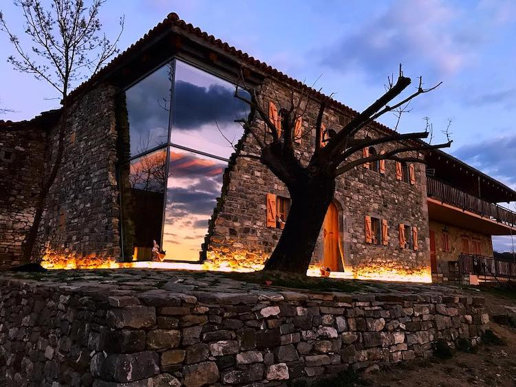 Contemporary Glass Farmhouse in Albania