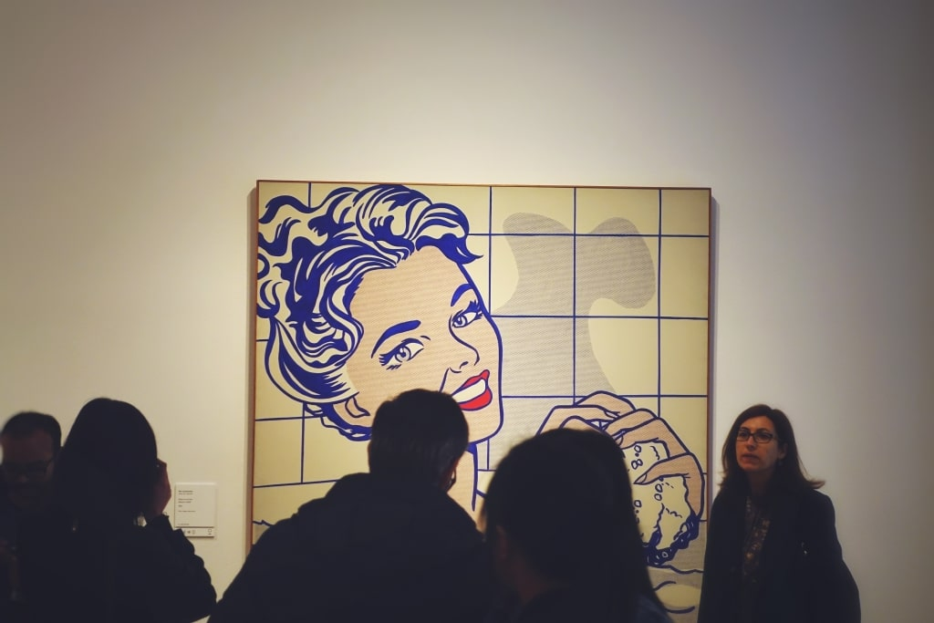 Mujer bañándose de Roy Lichtenstein en el Museo Thyssen