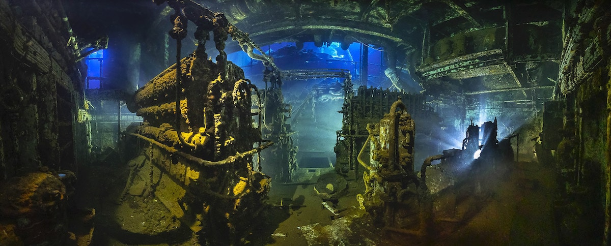 Underwater Photo of Wreckage in the Red Sea