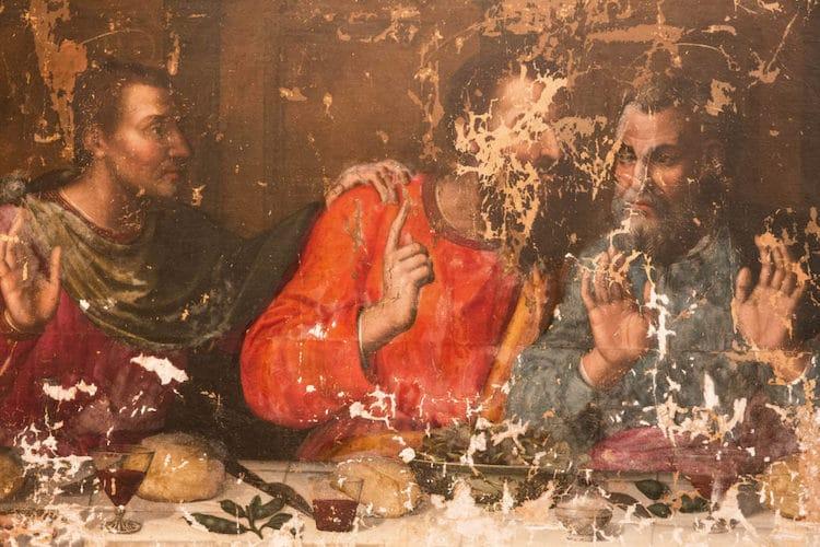 Last Supper by Plautilla Nelli Before Restoration