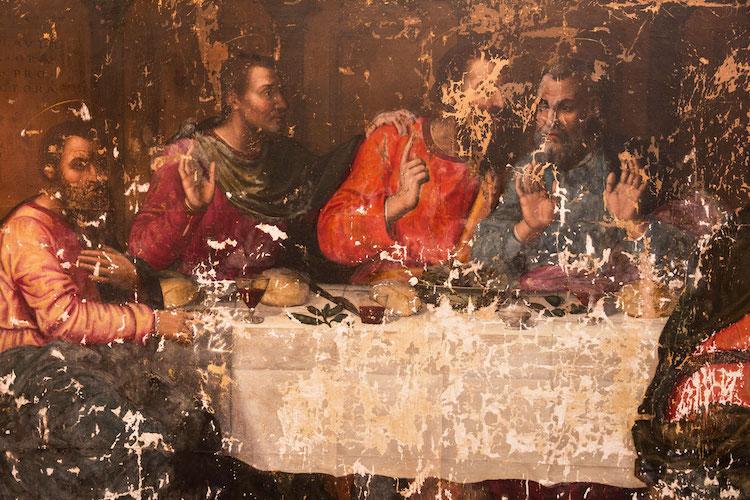 Plautilla Nelli Last Supper Before Restoration