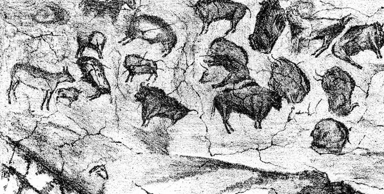 1880 Reproduction of Altamira Cave Paintings