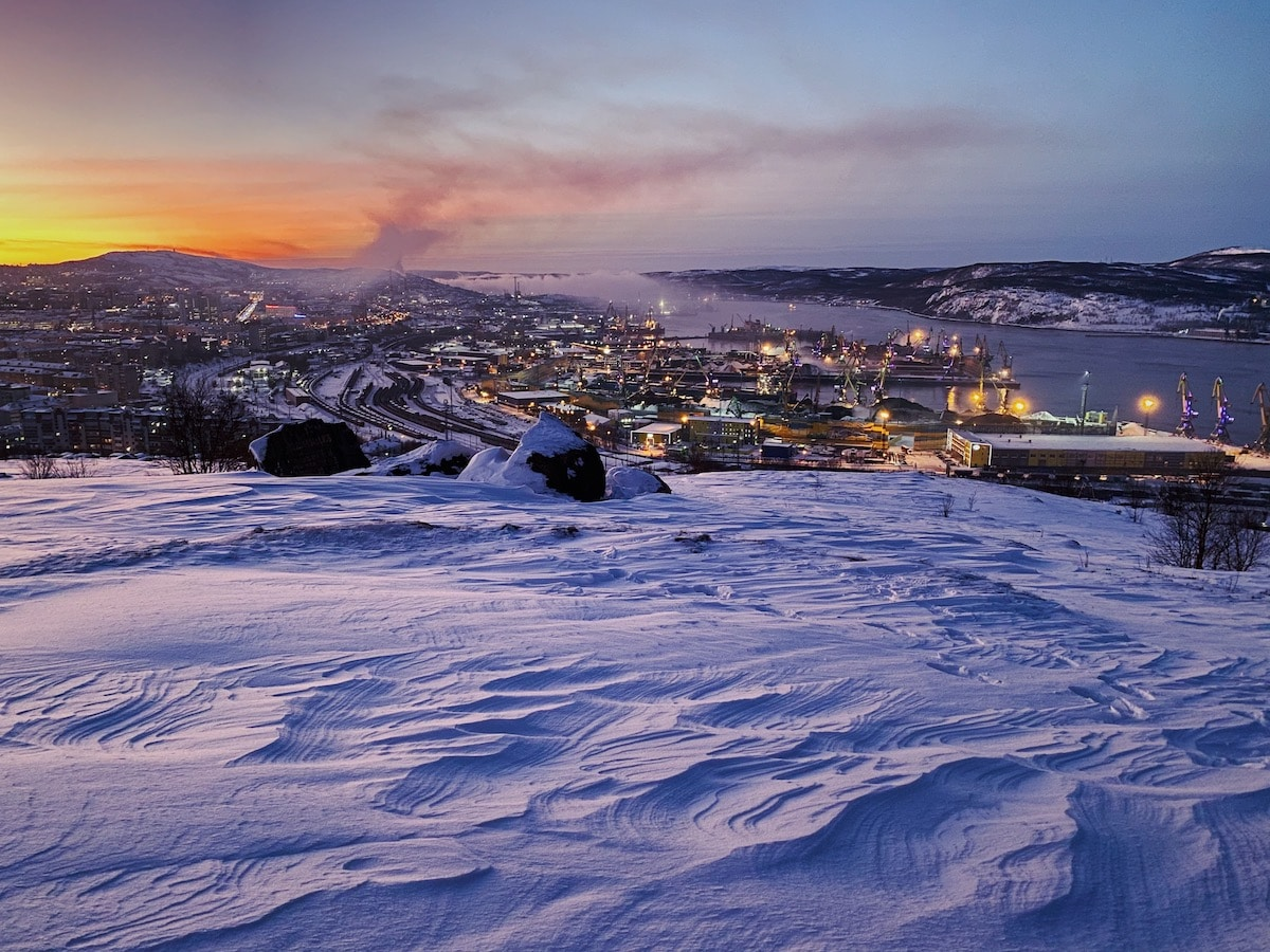 Polar Nights in Murmansk Russia
