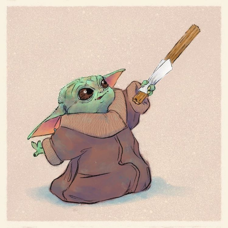 Baby Yoda Drawings
