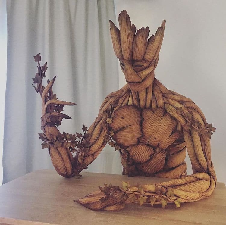 Groot Gingerbread Sculpture