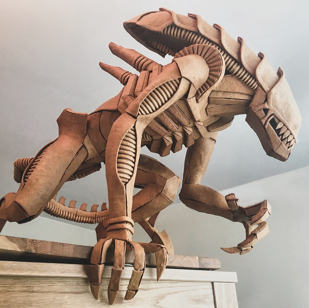 Gingerbread Xenomorph Sculpture