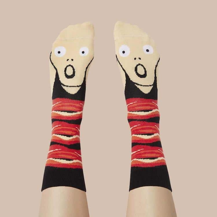 Chattyfeet Screamy Ed Artist Socks