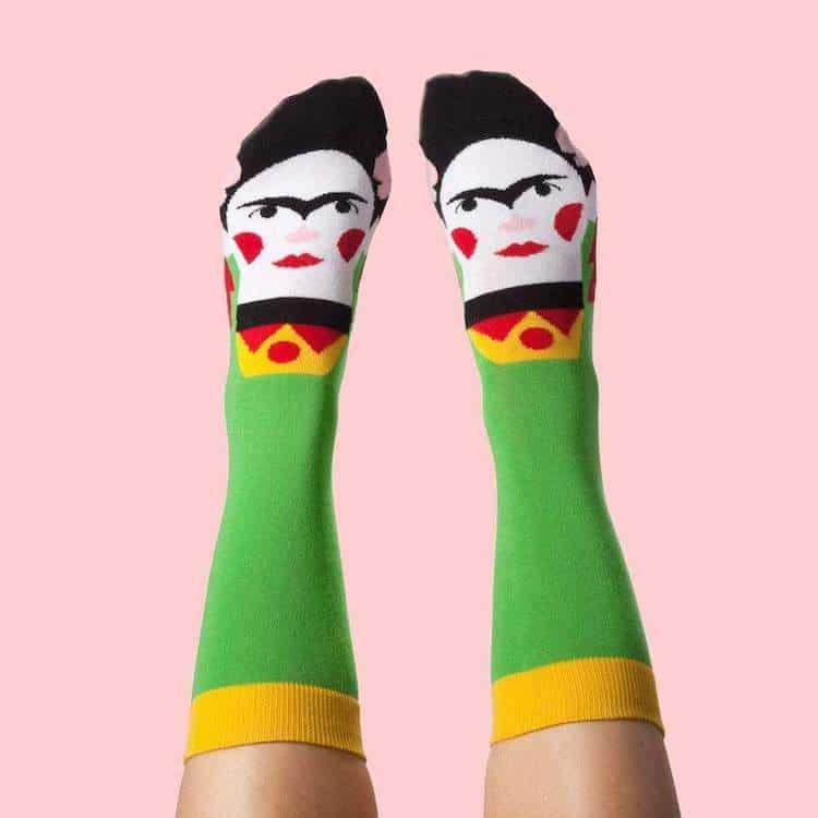 Chattyfeet calcetines de Frida Kahlo