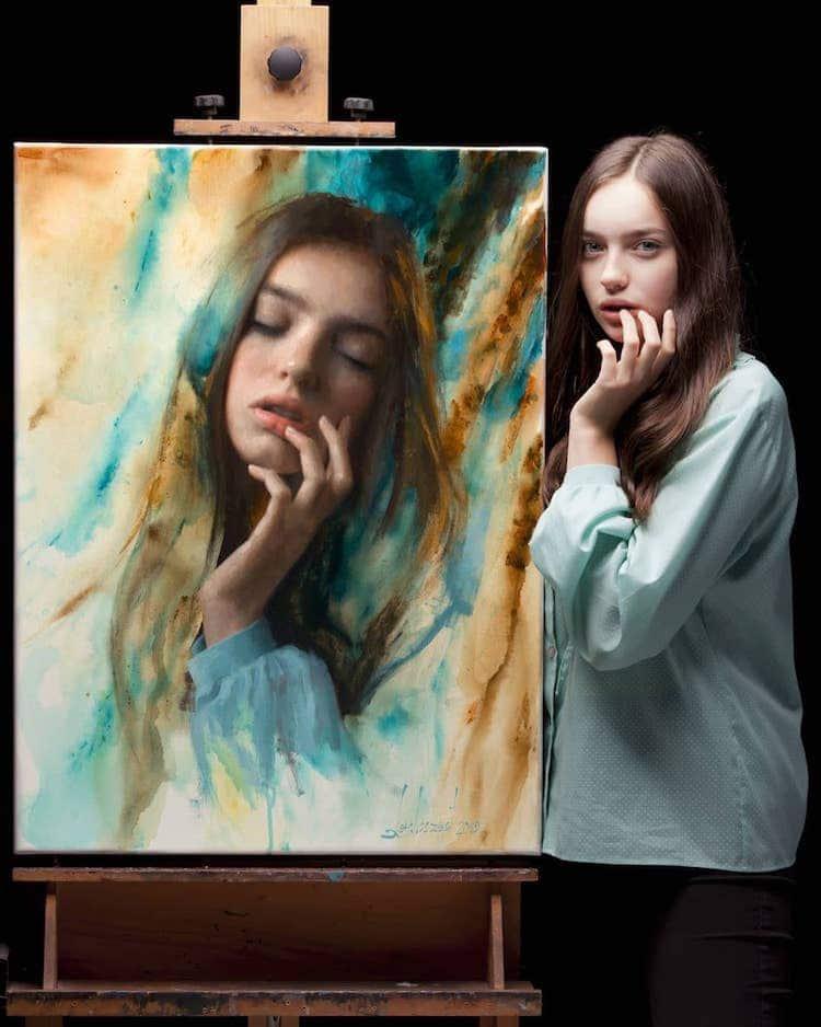 Retratos realistas de Damian Lechoszest