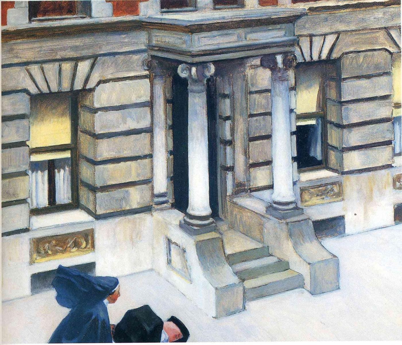 pavimentos de nueva york por Edward Hopper